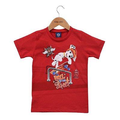 Camiseta Infantil Masculina Patrulha Canina - Marshall Skate - Malwee