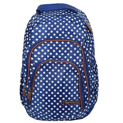 Mochila Para Notebook Feminina Star - Azul - DMW