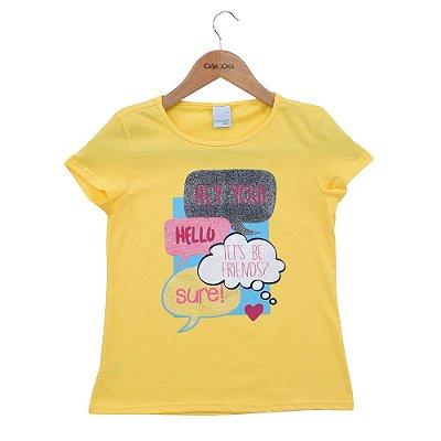 Blusa Infantil Feminina Hey You - Amarela - Malwee