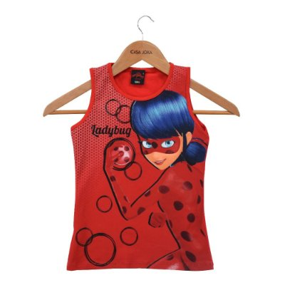 Regata Infantil Feminina Miraculous - Ladybug - Vermelha - Malwee
