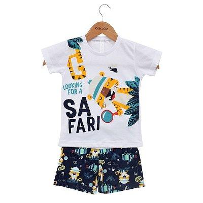 Conjunto Pijama Masculino - Brilha No Escuro - Safari