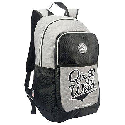 Mochila Para Notebook Skate Wear - Preto e Cinza - QIX