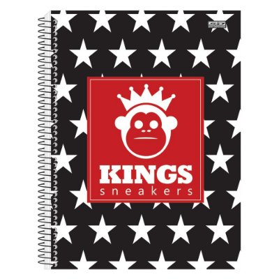Caderno Kings Sneakers - Estrelas - 10 Matérias - São Domingos
