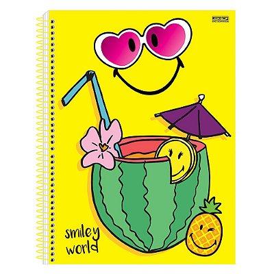 Caderno Smiley - Drink - Amarelo - 1 Matéria - São Domingos