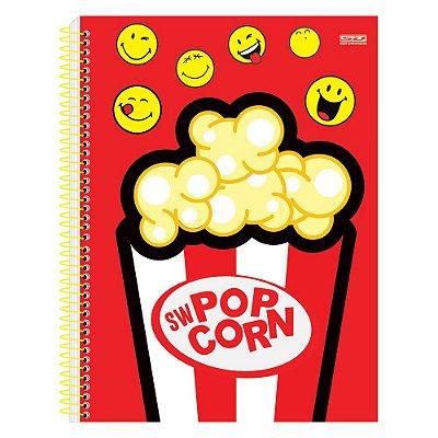 Caderno Smiley - Pop Corn - 1 Matéria - São Domingos