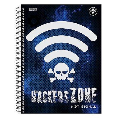Caderno Hackers - Sinal - Azul - 1 Matéria - São Domingos