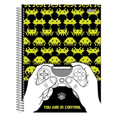 Caderno Gamer - You are in Control - 1 matéria - São Domingos