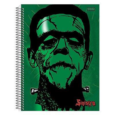 Caderno Sinistro Frankenstein - 10 matérias - São Domingos