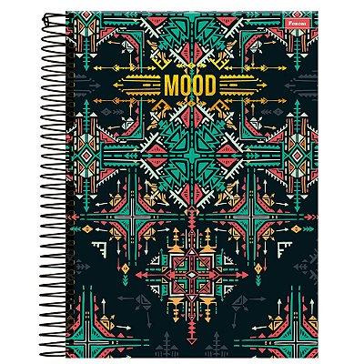 Caderno Mood - Preto - 10 Matérias - Foroni
