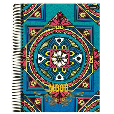 Caderno Mood - Ladrilho - 10 Matérias - Foroni