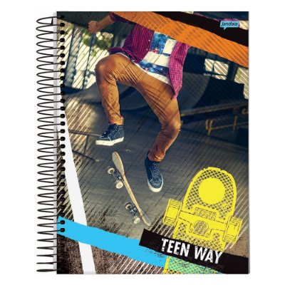 Caderno Teen Way Skate - 15 Matérias - Jandaia