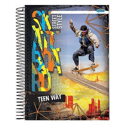 Caderno Teen Way Street Style - 15 Matérias - Jandaia