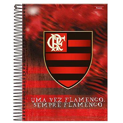 Caderno Flamengo - Emblema - 10 Matérias - Foroni