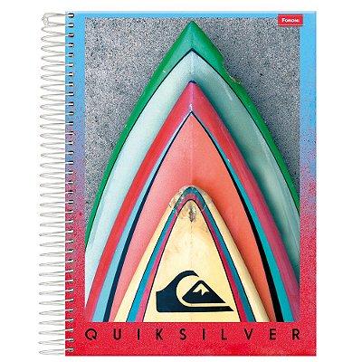 Caderno Quiksilver - Pranchas Surf - 10 Matérias - Foroni