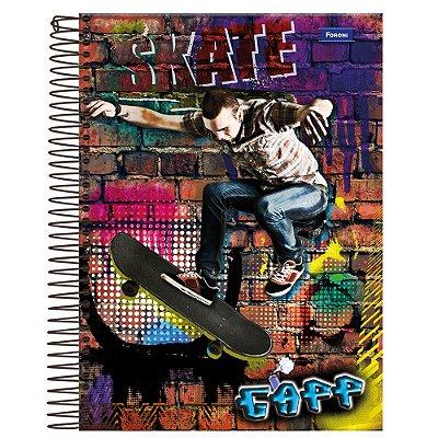 Caderno Gapp - Skate - 1 Matéria - Foroni