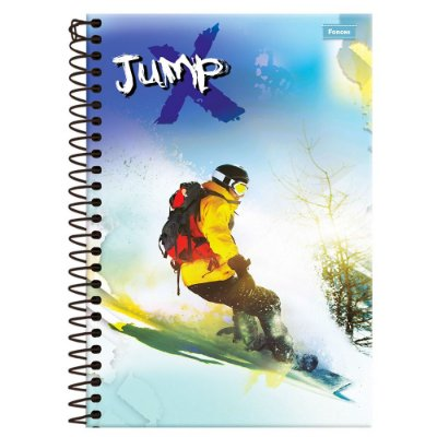 Caderno Jump - Snowboard - 1 Matéria - Foroni