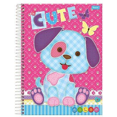 Caderno Kolor Cute - Cachorrinho - 10 Matérias - Foroni