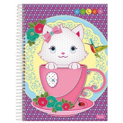 Caderno Kolor - Gatinho - 10 Matérias - Foroni