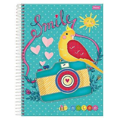 Caderno Kolor Smily - Câmera - 10 Matérias - Foroni