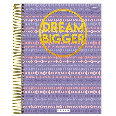 Caderno Urban - Roxo - Dream Bigger - 10 Matérias - Foroni