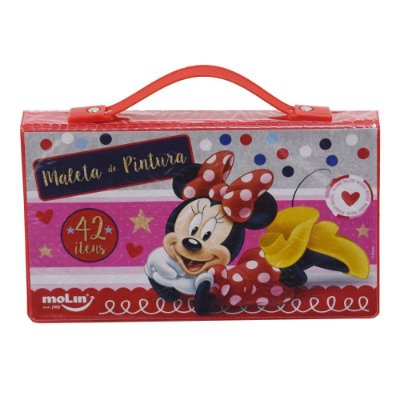 Maleta de Pintura Infantil - Minnie - 42 Itens - Molin