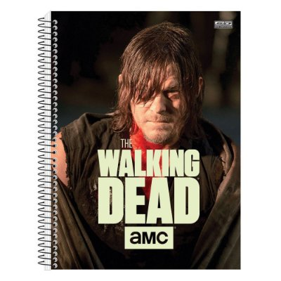 Caderno The Walking Dead - Daryl - Brilha no Escuro - 10 matérias