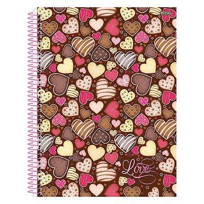 Caderno Love - Corações - 10 Matérias - São Domingos