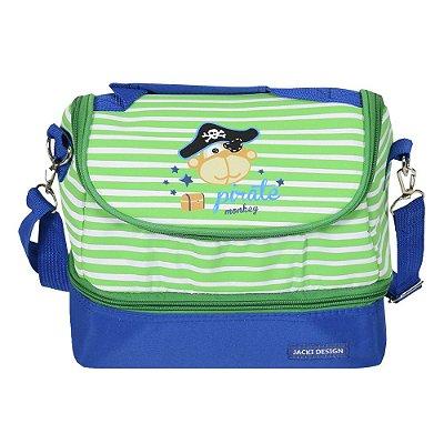Bolsa Térmica Pequeninos - Pirate Monkey - 2 Compartimentos
