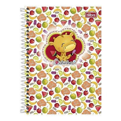Caderno Bichinhos - Girafa Verão - 10 Matérias - Tilibra