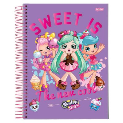 Caderno Shopkins - Sweet is - 1 matéria - Jandaia
