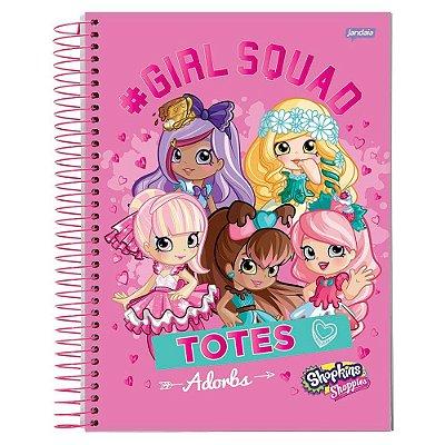 Caderno Shopkins - #Girl Squad - 1 matéria - Jandaia