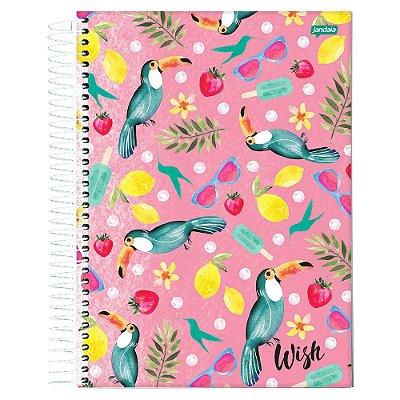 Caderno Wish - Tucanos - 10 Matérias - Jandaia