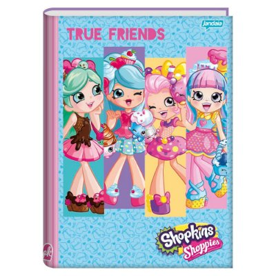 Caderno Brochura Shopkins - True Friends - Jandaia