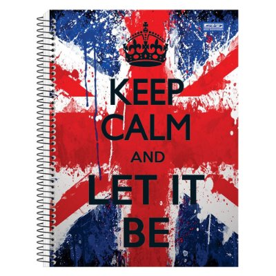 Caderno Keep Calm Let it Be - 1 matéria