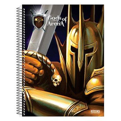 Caderno Gods Of Arena - Gladiador - 10 Matérias - São Domingos