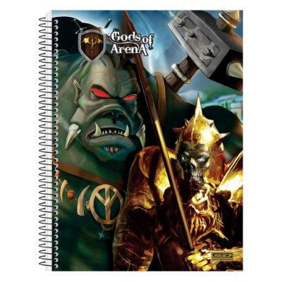 Caderno Gods Of Arena - Caveira e Ogro - 10 Matérias - São Domingos