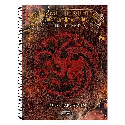 Caderno Game Of Thrones - Casa Targaryen - 10 matérias - Tilibra