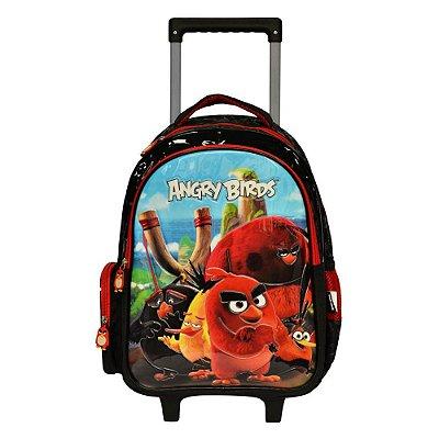"""Mochila de Carrinho Angry Birds 14"""" - Santino"""