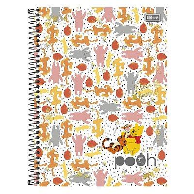 Caderno Pooh - Pooh e Tigrão - 1 Matéria - Tilibra