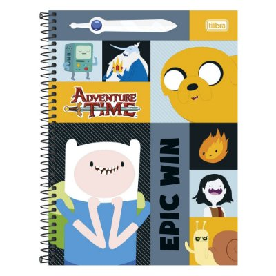 Caderno Adventure Time - Epic Win - 10 Matérias - Tilibra