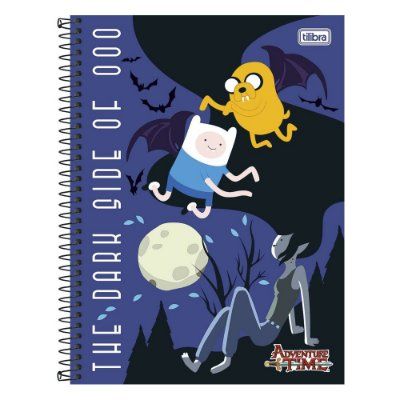 Caderno Adventure Time - The Dark Side Of - 10 Matérias - Tilibra