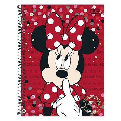 Caderno Minnie Mouse Vermelho - 1 matéria - Tilibra