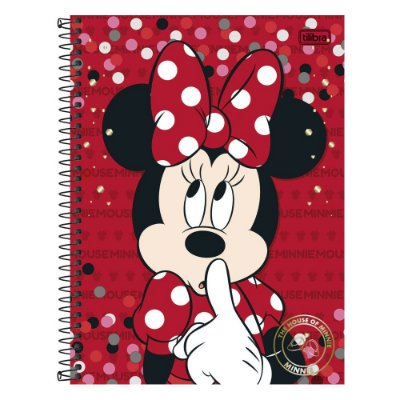 Caderno Minnie Mouse Vermelho - 10 matérias - Tilibra
