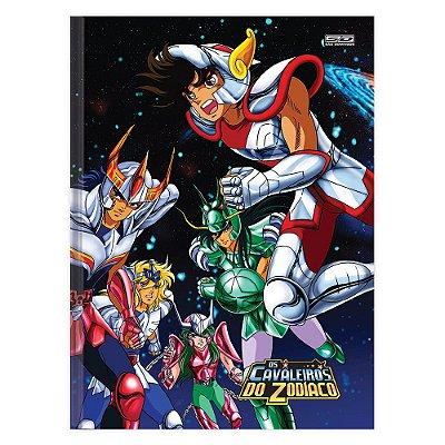 Caderno Brochura Os Cavaleiros do Zodíaco - Guerreiros - 96 Folhas