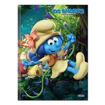 Caderno Brochura Os Smurfs - Smurf-Flor - 96 Folhas - São Domingos
