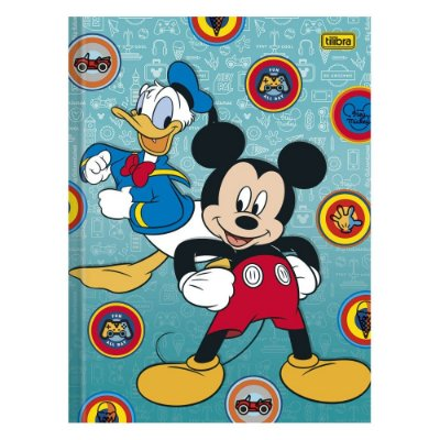 Caderno Brochura Mickey e Donald  - 96 Folhas - Tilibra