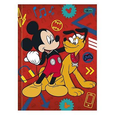Caderno Brochura Mickey e Pluto - 96 Folhas - Tilibra