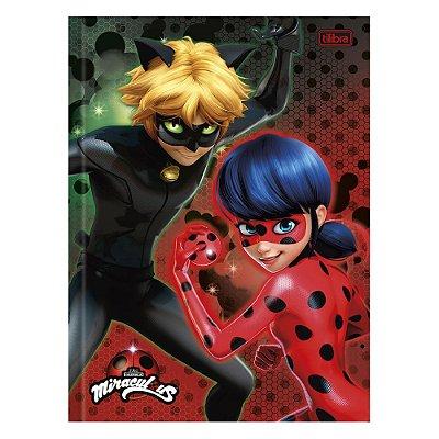 Caderno Miraculous - Ladybug e Cat Noir  - 96 Folhas - Tilibra