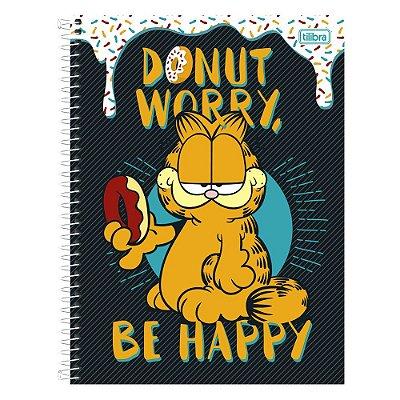 Caderno Garfield - Donut Worry - 1 Matéria - Tilibra