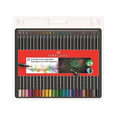 Lápis de Cor Eco SuperSoft - 24 Cores - Faber Castell